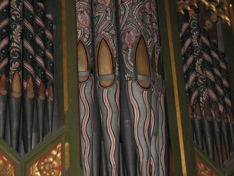 Hanbury Church Organ Pipes
